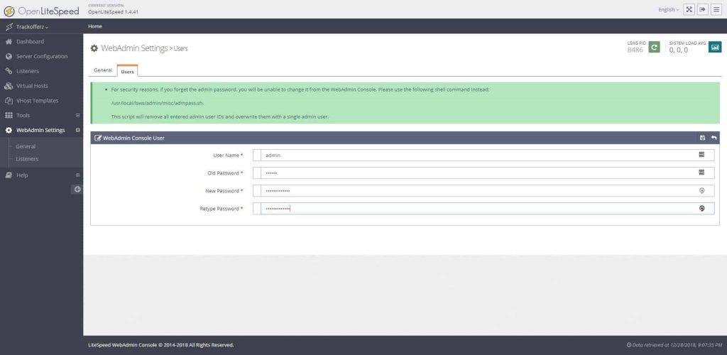 change-user-password-in-OLS-dashboard